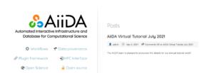AiiDA virtual tutorial